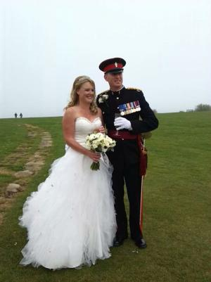 Image of Jo and Stuart on their Wedding Day.