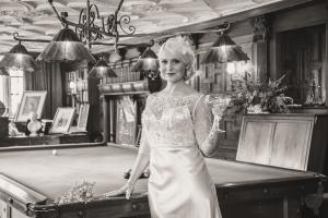 An image of the model in the billiards room