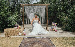 Colourful & Pretty Floral Tipi Boho Glam Wedding Ideas