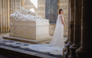 Bride Magazine – A Majestic and Dramatic Dorset Abbey Bridal Shoot