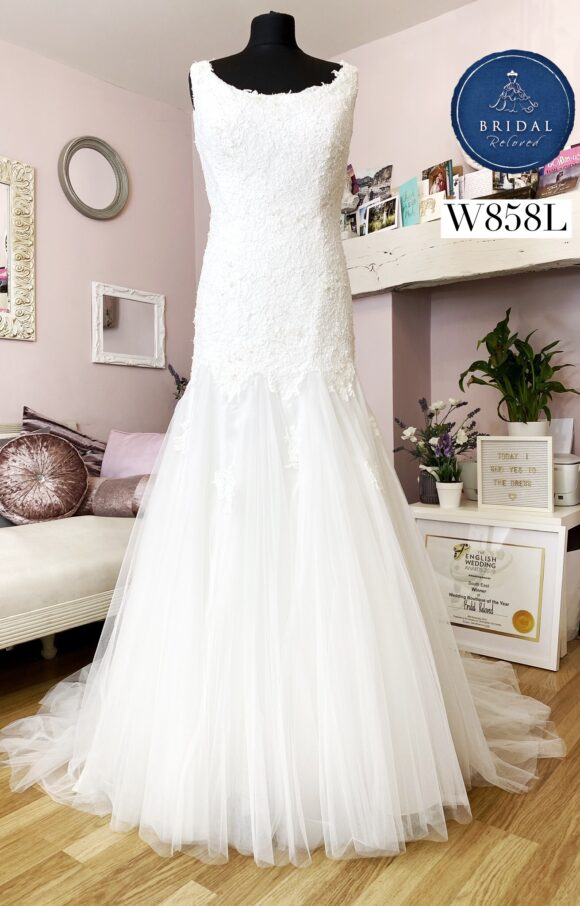 Ivory and Lace   Wedding Dress   Drop Waist   W858L