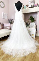 Ivory and Lace | Wedding Dress | Drop Waist | W858L