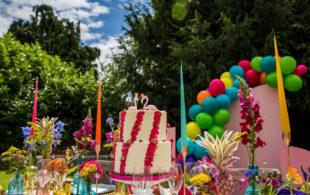 Unconventional Wedding – Colourful Flamingo Wedding – Rainbows & Pineapples!
