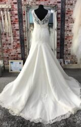 White One | Wedding Dress | Fit to Flare | CA217G