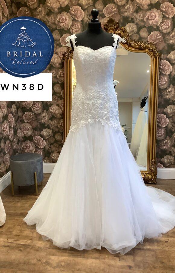 Maggie Sottero   Wedding Dress   Drop Waist   WN38D
