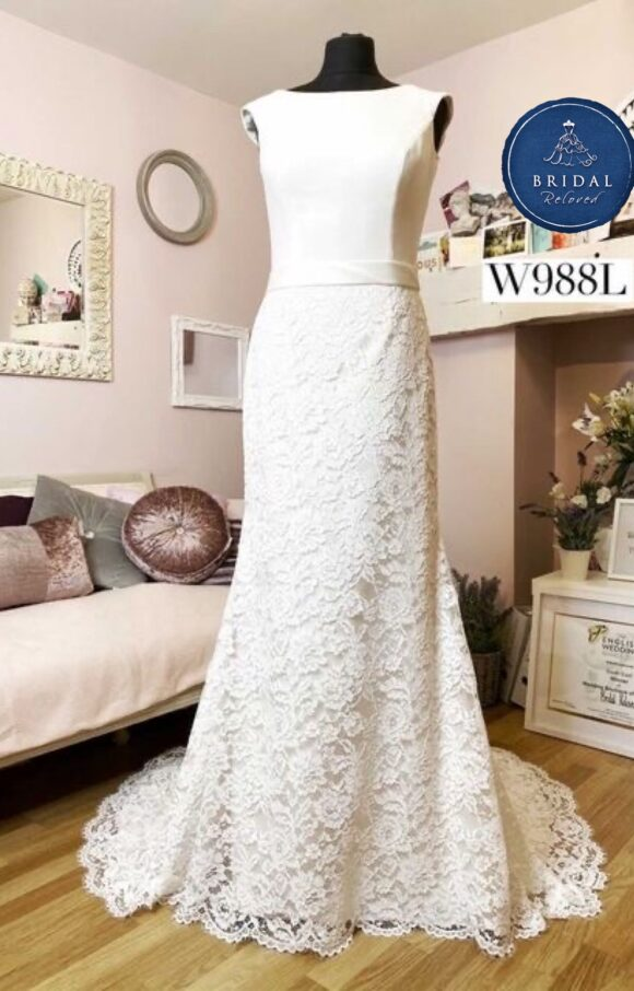White Rose   Wedding Dress   Fit to Flare   W988L