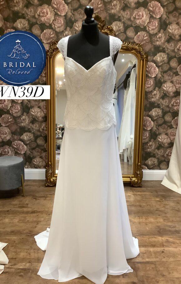 Mark Lesley   Wedding Dress   Drop Waist   WN39D