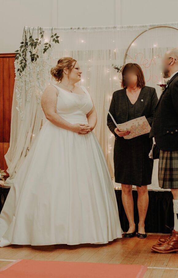 Davids Bridal   Wedding Dress   Aline   C2076