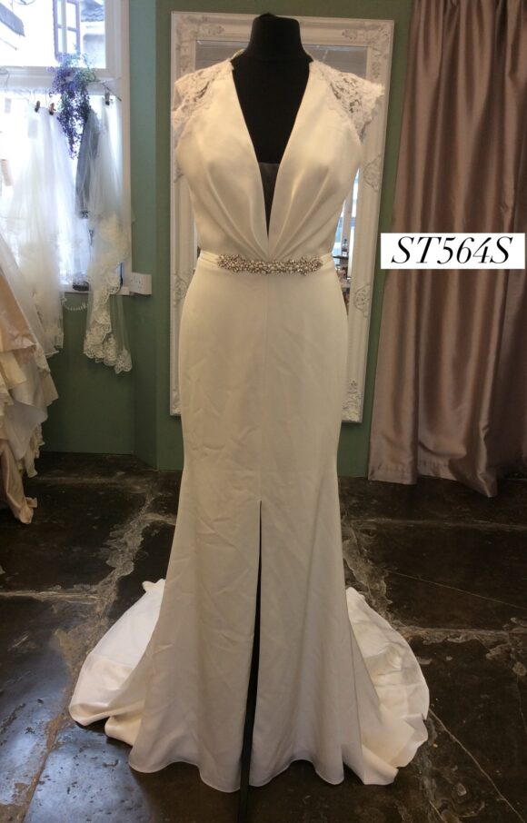 Paloma Blanca   Wedding Dress   Fit to Flare   ST564S