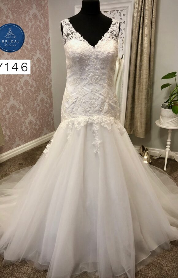 Hermione | Wedding Dress | Drop Waist | Y146
