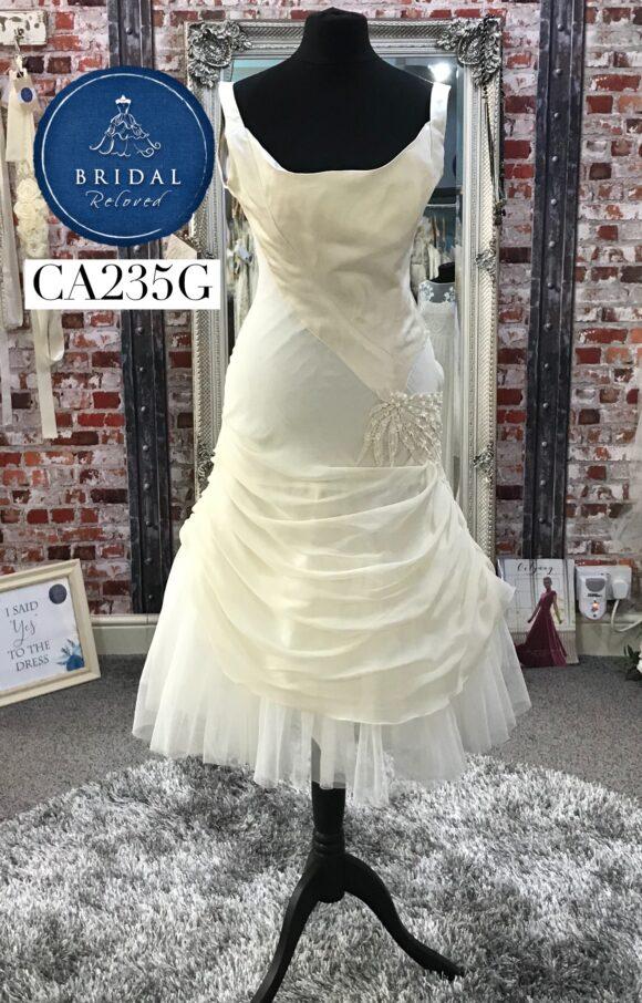 David Fielden | Wedding Dress | Tea Length | CA235G