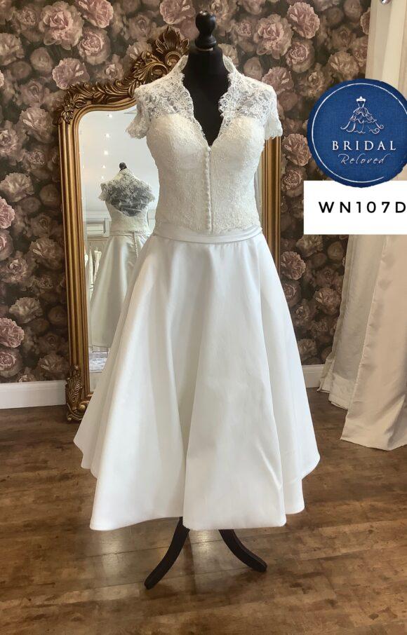 Justin Alexander | Wedding Dress | Tea Length | WN107D