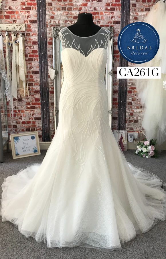 Phil Collins | Wedding Dress | Fit to Flare | CA261G