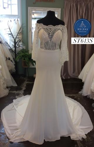 Watters   Wedding Dress   Fit to Flare   ST613S