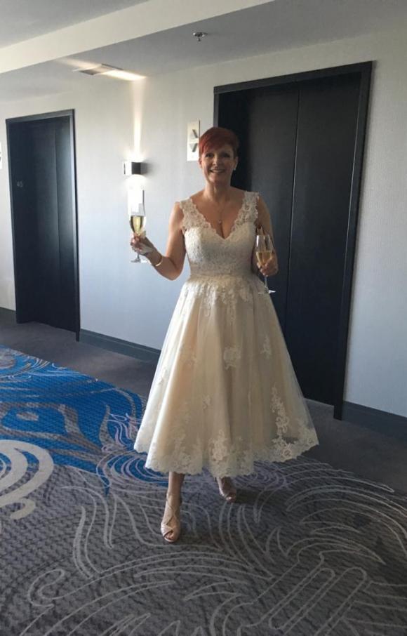 Anna Sorrano | Wedding Dress | Tea Length | C2411