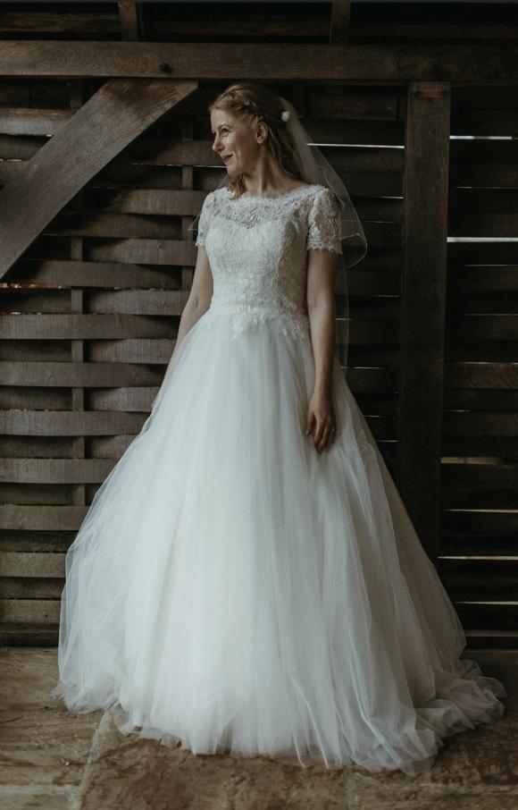 White One   Wedding Dress   Aline   C2419