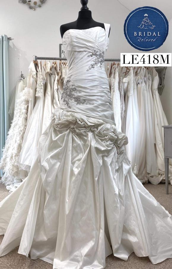 Kay Mason   Wedding Dress   Drop Waist   LE418M