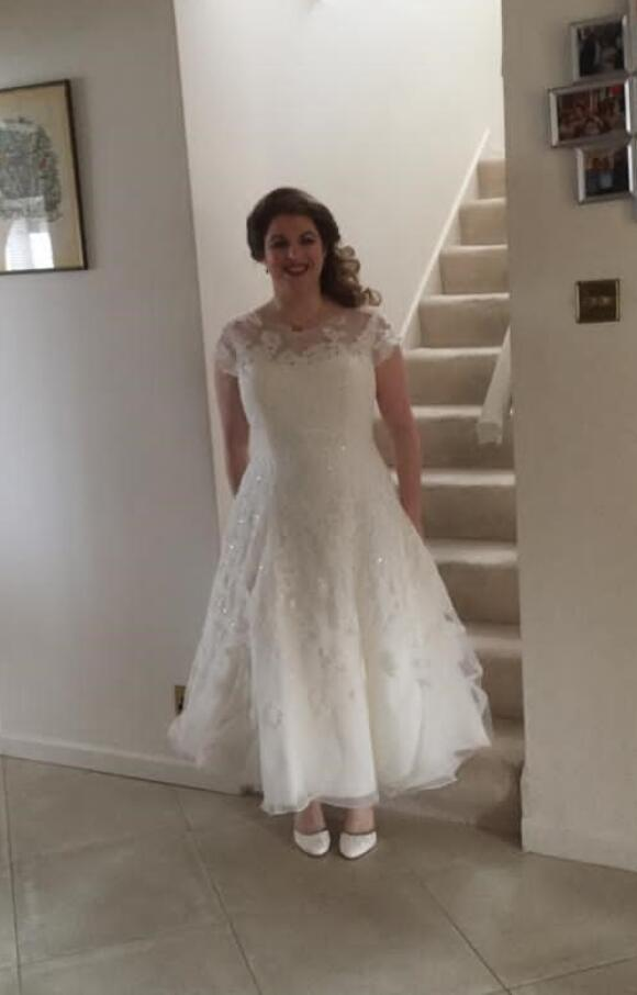 Oleg Cassini | Wedding Dress | Tea Length | C2539