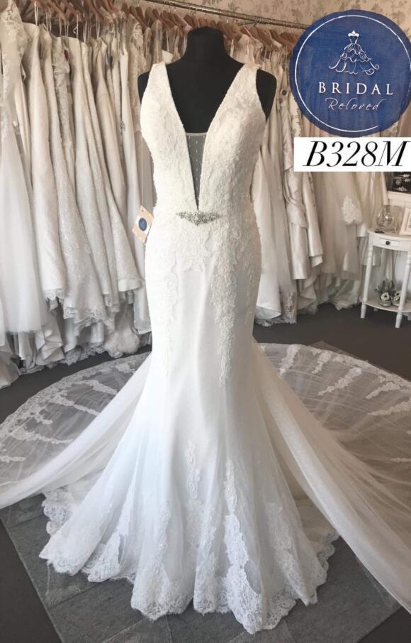 Nicole Spose   Wedding Dress   Fit to Flare   B328M